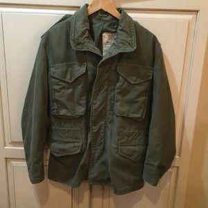 Vintage 80s coat cold weather field og-107 jacket